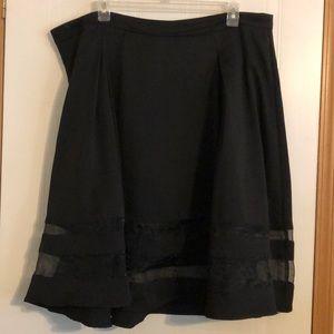 Torrid Textured Mesh Paneled Midi Skirt